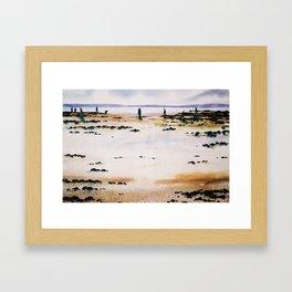 clamming in Nova Scotia - pêcheurs de coques Framed Art Print