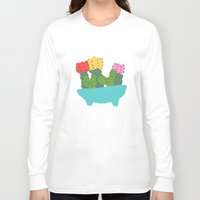 cacti Long Sleeve T-shirts featuring cute cacti by Berlyn Hubler