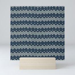 MUD CLOTH DENIM 1 Mini Art Print