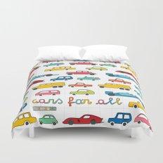 Cars for all Duvet Cover