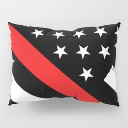 Firefighter: Black Flag & Red Line Pillow Sham