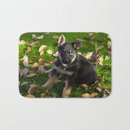 #Little #German #Shepherd #puppy Bath Mat
