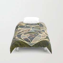 Geometric mountains 1 Duvet Cover