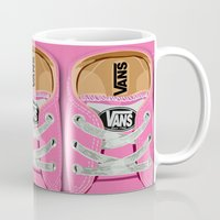 vans Mugs featuring Cute pink Vans all star baby shoes apple iPhone 4 4s 5 5s 5c, ipod, ipad, pillow case and tshirt by Three Second