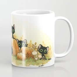 Black cats and pumpkins Coffee Mug