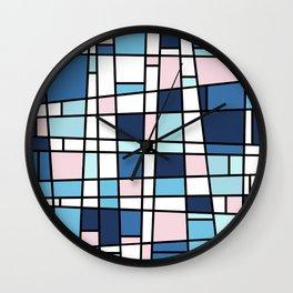 Mid Century Modern Metrics Wall Clock