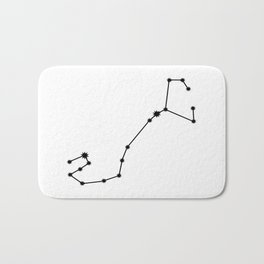 Scorpio Astrology Star Sign Minimal Bath Mat