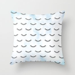Sleeping Eyes and Eyelashes Throw Pillow