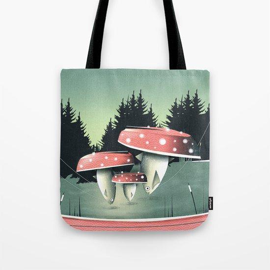 Fishing for Mushrooms Tote Bag