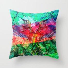Hummingbird Heartbeat Throw Pillow