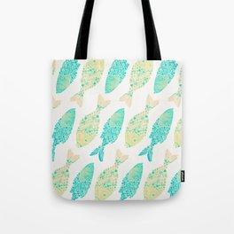 Indonesian Fish Duo – Turquoise & Cream Palette Tote Bag