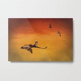Pelican Heaven Metal Print