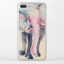 The Mindful Elephant Walk Clear iPhone Case