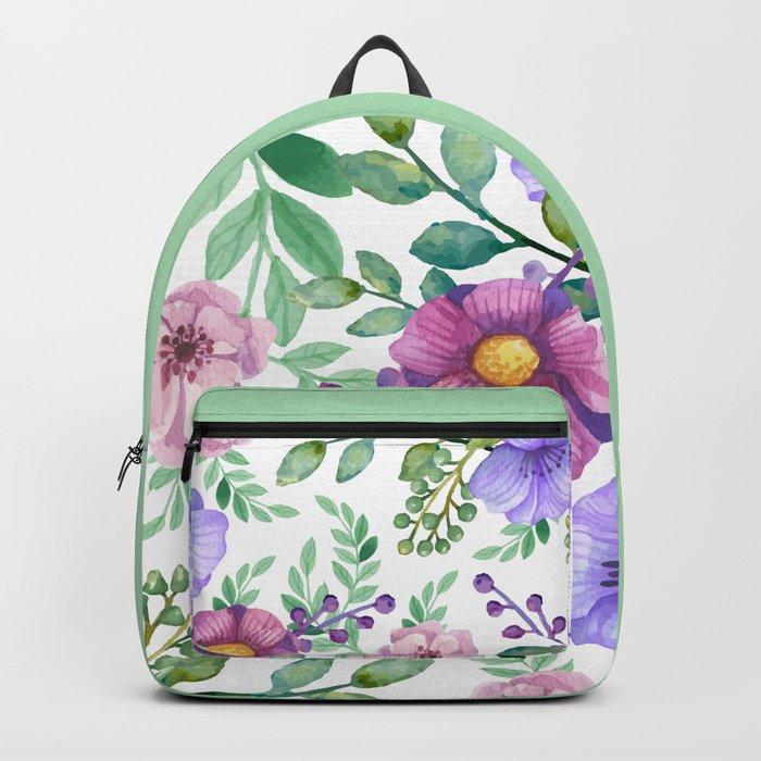 FLOWERS WATERCOLOR 13 Backpack