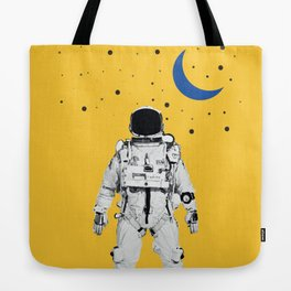 Astronaut Portrait on a Yellow Background Tote Bag