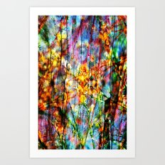 Colorful Symphony of Spring  Art Print