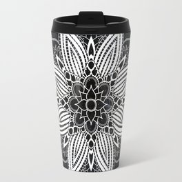Flower Mandala in the Stars Travel Mug