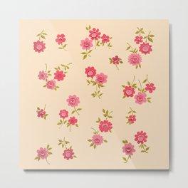 Pilgrim Rose Garden Metal Print