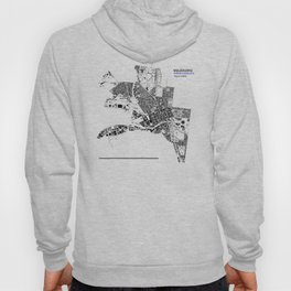 MELBOURNE BLACK & WHITE MAP Hoody