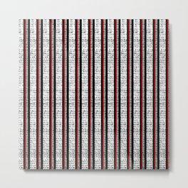 Distressed Pinstripe Pattern Metal Print