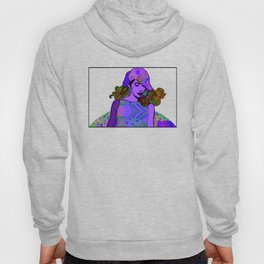 """""""Crazy in Purple"""" by Mar Cantón Hoody"""