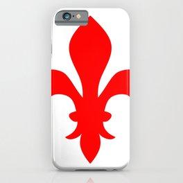 Fleur de Lis (Red & White) iPhone Case