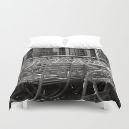 stacked seats Duvet Cover