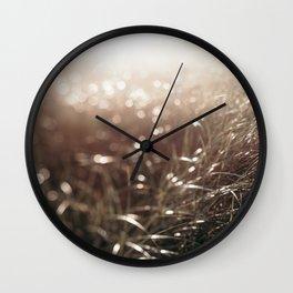September Beachgrass #2 Wall Clock