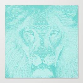 blue lion Canvas Print