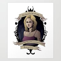 buffy the vampire slayer Art Prints featuring Buffy - Buffy the Vampire Slayer by muin+staers