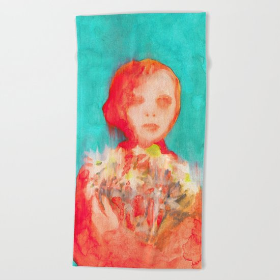 She Daisy Beach Towel