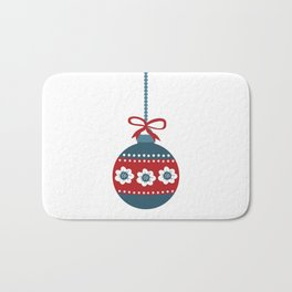 Scandinavian Christmas Ball 01 Bath Mat
