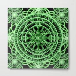 Verdant Mandala Metal Print
