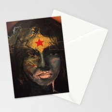 With A Weaponized Tiara Stationery Cards