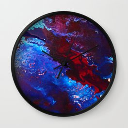 Maroon Flow Wall Clock