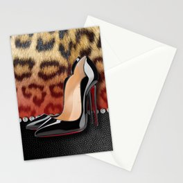 High Heel Stilettos and Leopard Print Stationery Cards