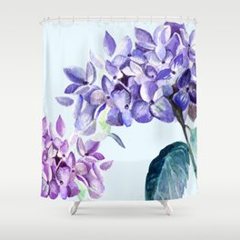 Hydrangea blue hues Shower Curtain