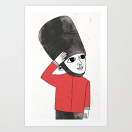 Little Soldier Art Print