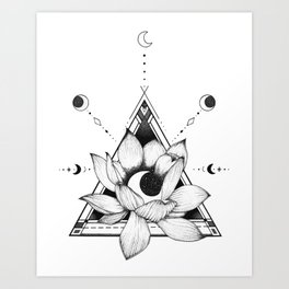 Lotus Crescent Art Print