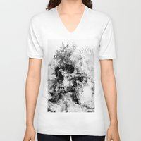 silent hill V-neck T-shirts featuring Silent Hill by RIZA PEKER