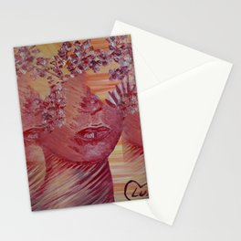 Women Nature by Lu Stationery Cards