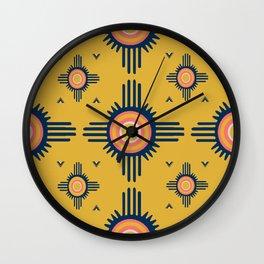 Zuni Sun Goldenrod Wall Clock