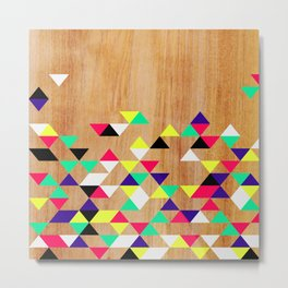 Geometric Polygons Arbutus Metal Print