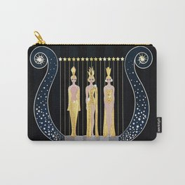 """Art Deco 1920's Illustration """"Lyre"""" Carry-All Pouch"""