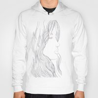 art nouveau Hoodies featuring Art Nouveau by YriArt