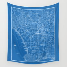 Los Angeles Street Map Wall Tapestry