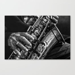 The Saxaphone Canvas Print
