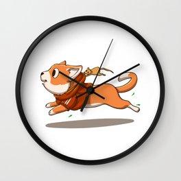 Cat run - mouse cartoon Wall Clock