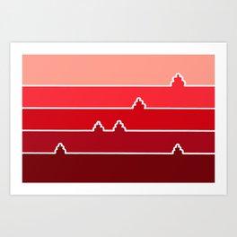 Red Landscape Art Print