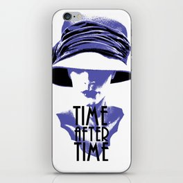 Time After Time Bleu iPhone Skin